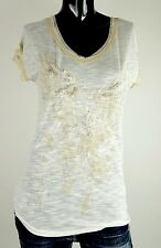 NEW MISS ME SHIRT S-M-L JMT1243 CHAMPAGNE BEADS WINGS DESIGN ***