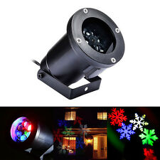 Snowflake RGB LED Laser Stage Light Landscape Garden Yard Holiday Projector Xmas