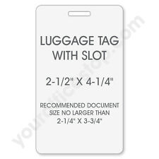 500 x Luggage Tag ID LAMINATING POUCHES w/ Slot - 5MIL FOR HOT LAMINATOR