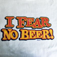 NEW FUNNY DRINKING TSHIRT - I Fear No Beer!