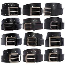 New Mens Reptile Skin Textured Studded Border Stitched Leather Belts S-3XL