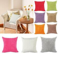 Solid Color Bed Sofa Cushion Cover Waist Throw Pillow Case Home Car Decor PICK