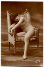 1920s FRENCH Full NUDE risque photo postcard