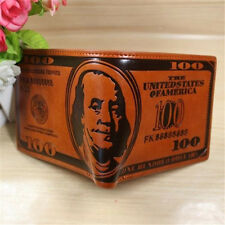 Durable US Dollars Leather Wallets Men's Wallets 100$ Coin Holder Tops