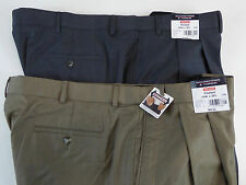Roundtree & Yorke Easy Care Non Iron Pleated Expander Waist Dress Pants  $69 NWT