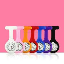 Candy Colors Silicone Nurses Brooch Tunic Fob Medical Watch Free Battery Pocket