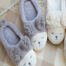 Women Men House Indoor Slippers Home Warm Cotton Plush Shoes Sandals Anti-Slip