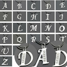 1 Pcs Necklace Women Silver Fashion Letter Initial A-Z Jewelry Pendant Crystal