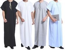Men Thobe Thoub Abaya Robe Juba Qamis Daffah Dishdasha Islamic Arab Kaftan