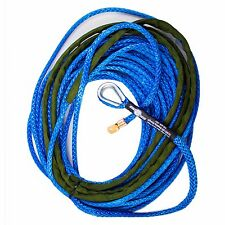 3/8 x 80 AmSteel - Blue Main line Synthetic Winch Rope Line Thimble
