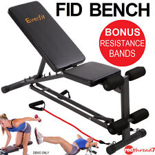 Adjustable Weight FID Bench Press Flat Incline Decline Gym AB Exercise Fitness