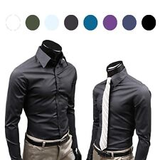 Fashion Men Shirt Long sleeve Business Camisa Boutique Anti-Wrinkle casual Shirt