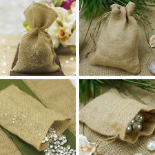 Brown BURLAP FAVOR BAGS Wedding Party Wholesale Discounted Pouches Packaging