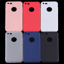 Ultra thin Slim Matte Soft Back Case With logo Cover For iPhone 6 6s 7