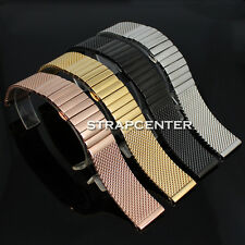 18 20 22 24 mm Stainless Steel Mesh Watch Band Shark Diving Replacement Strap