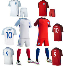 New Football Soccer Home/Away Kits Jersey Short Sleeve Boys Kids 2-13 Yrs+Socks