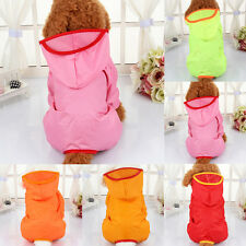 New Cute Pet Puppy Dog Rain Coat Soft Hooded Coat Casual Waterproof Jacket S-XL