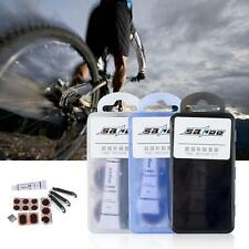 BIKE TYRE TUBE BICYCLE PUNCTURE REPAIR TOOL KIT CYCLE GLUELESS PATCHES I5Q2