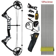 Archery Compound Bow Right Hand Hunting Set & Target Accessories Kit 19-70Lbs