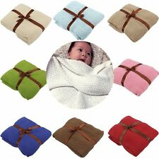 Warm Swaddle Kid Baby Blanket Newborn Infant Knit Crochet Cotton Sleeping Wrap