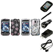 For LG Optimus S LS670 Diamond Diamante Bling Rhinestone Case Cover Headphones