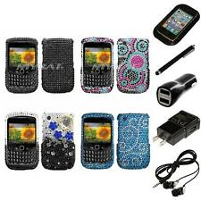 For BlackBerry Curve 8530 / 8520 Diamond Diamante Rhinestone Case Headphones