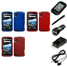 For Motorola Atrix 4G Rigid Plastic Hard Snap-On Case Phone Cover Headphones
