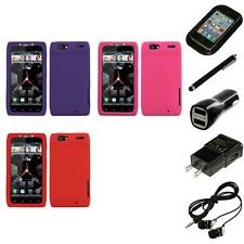 For Motorola Droid Razr XT912 Silicone Skin Rubber Soft Case Cover Headphones