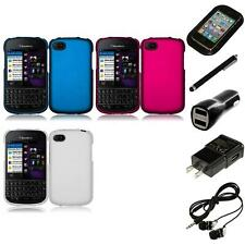 For BlackBerry Q10 Rubberized Matte Snap-On Hard Case Phone Cover Headphones