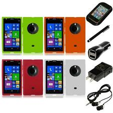 For Nokia Lumia 1020 Silicone Skin Soft Rubber Case Phone Cover Headphones