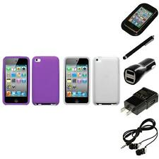 For Apple iPod Touch 4th Gen Silicone Skin Rubber Soft Case Cover Headphones