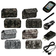 For Apple iPod Touch 4th Gen Holster Belt Clip Case Pouch Headphones
