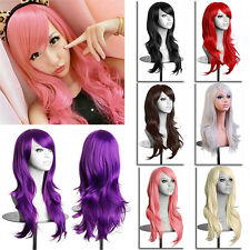 New Womens Long Wavy Curly Hair Extension Synthetic Cosplay Full Wig Wigs Party
