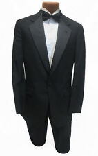 New Mens Designer Brooks Brothers Black Wool Tuxedo Jacket $299 Retail Blazer