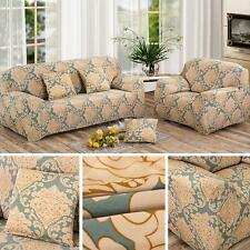 1/2/3 Seater Flower Fit Stretch Sofa Slipcover Couch Damask Fabric Protector Set