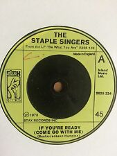 """The Staple Singers - If You're Ready (Come Go With Me) 7"""""""