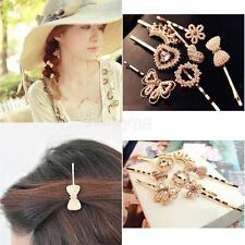 Ladies Fancy Hair Clip Crystal Wedding Prom Hairpin Pearl Barrette Headwear Gift