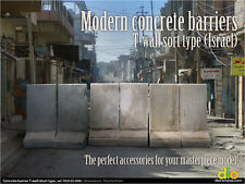 Built & Painted Diorama Accessories, 1:35 Concrete Barriers, Short Type (Israel)