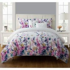 NEW Twin XL Full Queen King Bed Purple Pink White Floral 5 pc Comforter Set NWT