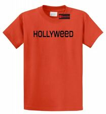 Hollyweed Funny T Shirt News Hollywood Sign CA Stoner Weed Cali Gift Tee