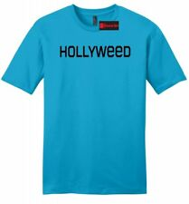Hollyweed Funny Mens Soft T Shirt News Hollywood Sign CA Stoner Weed Cali Tee Z2