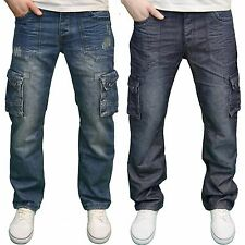 Eto Mens Designer Branded Loose Fit Straight Leg Combat Style Jeans, BNWT