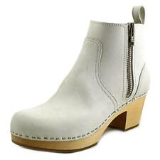 Swedish Hasbeens Zip It Emy Women  Round Toe Leather  Ankle Boot