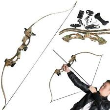 ABS Takedown Recurve Bow Set Black/Camo Youth Shooting Hunting Practice Games