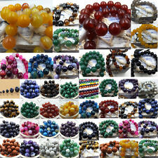 Natural Gemstone Round Spacer Loose Beads Agate Stone Handmade Fashion Jewelry