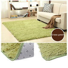 Large Size Fluffy Rugs Anti-Skid Shaggy Area Rug Dining Room Carpet Floor Mat PY
