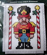 NIP NMI Stitch 'N Hang Counted Cross Stitch Christmas Toy Soldier Ornament Kit