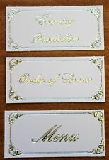 10 Wedding Evening Invitation Menu Order Of Service Card Making Banner Toppers