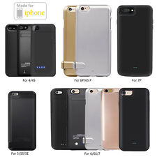 External Battery charging Backup Power Bank Charger Case Cover for Apple iPhone