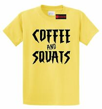 Coffee & Squats Funny T Shirt Coffee Lover Workout Fitness Gym Tee